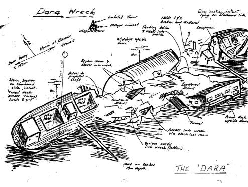 MV DARA Wreck Map UAE